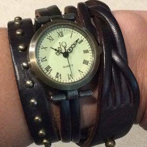 Jewelry - JQ Classic Leather Fashion Bangle Bracelet Watch